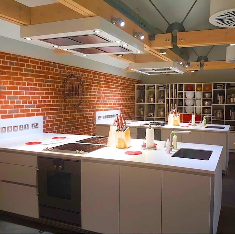 Modern, Scandi kitchen, exposed brickwork.