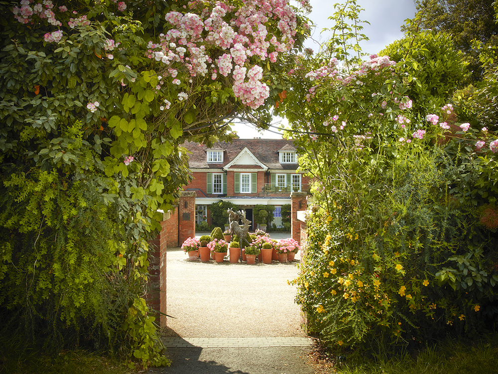 Chewton Glen - Entrance with Roses