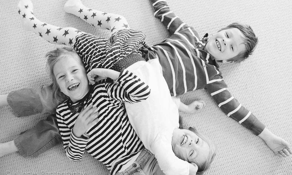 Four children playing.