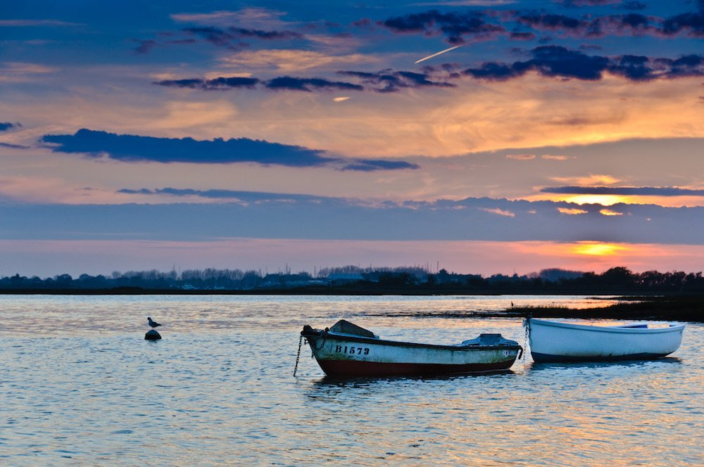 Emsworth Harbour at dusk