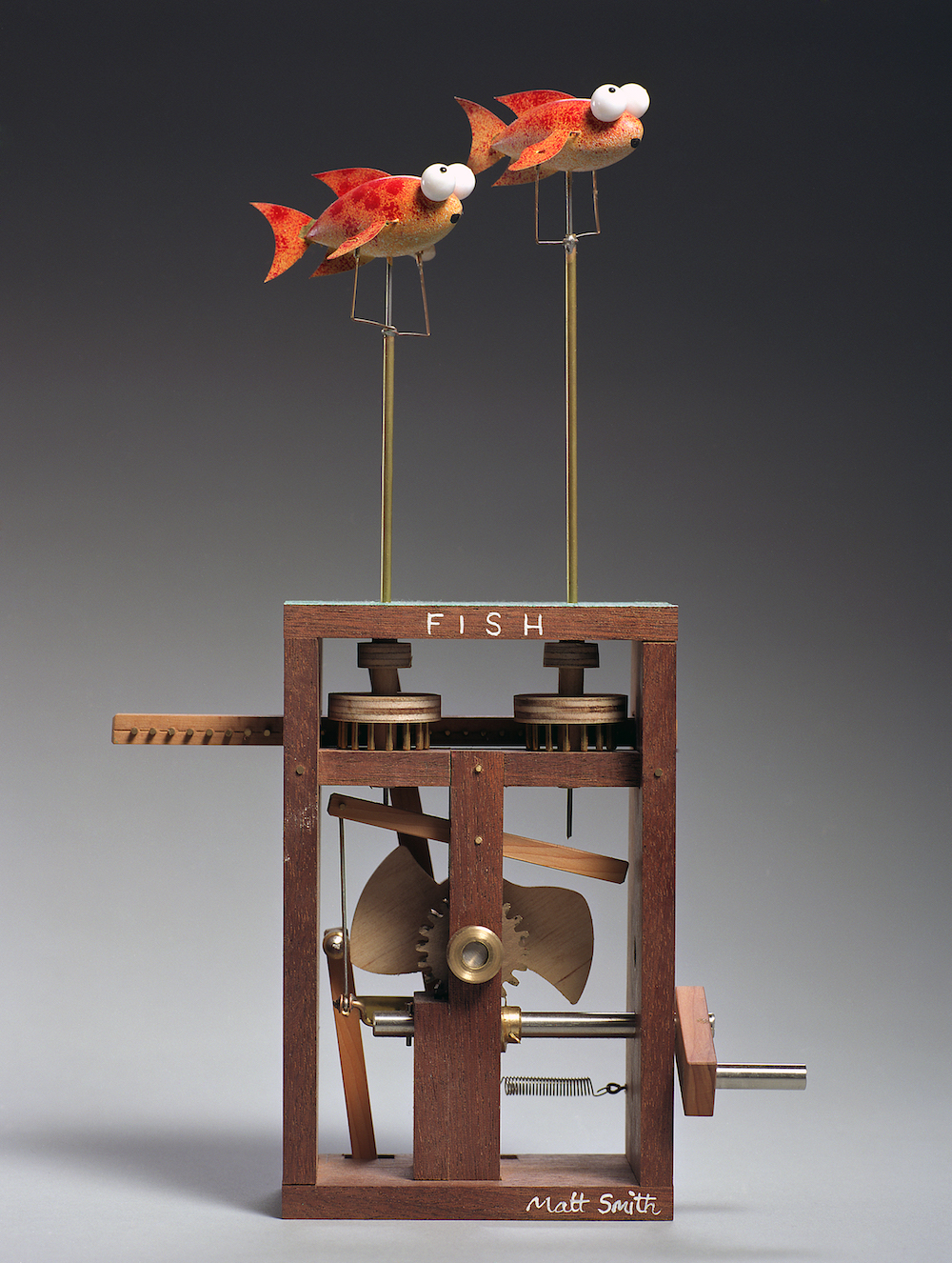 Mechanical Sculpture Red Fish