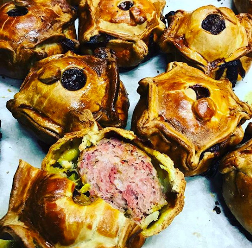 Island Bakers Ham Hock and Piccalli pies