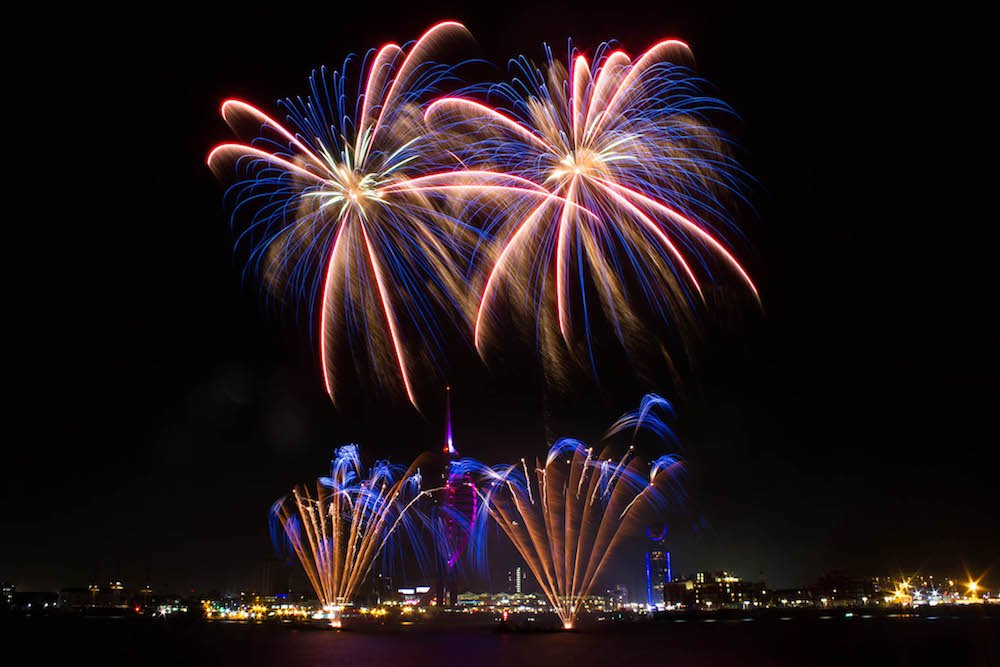 Fireworks display hampshire portsmouth gunwharf quays