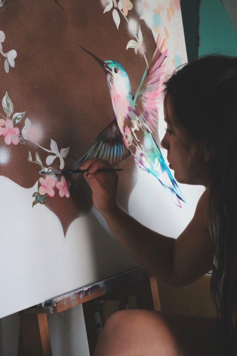 Sian Storey Art live painting
