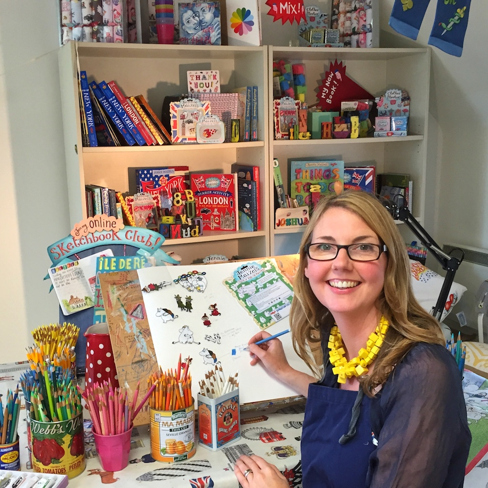 Jennie Maizels studio hampshire illustrator