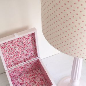 Liberty Print Fabric Keepsake Box pink phesant