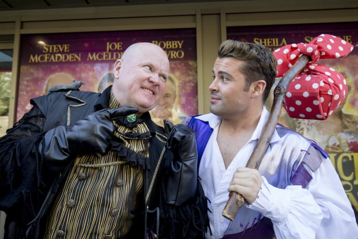 Mayflower Theatre Dick Whittington Steve McFadden and Joe McElderry