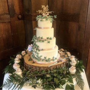 GatesBakes Nature Wedding Cake
