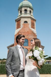 Wedding Couple with Chapel Dome (Exterior)