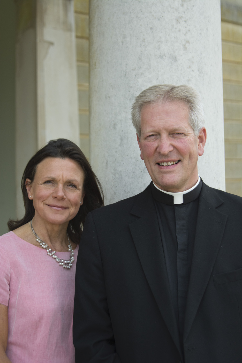 Father Simon Everson and Mrs Everson