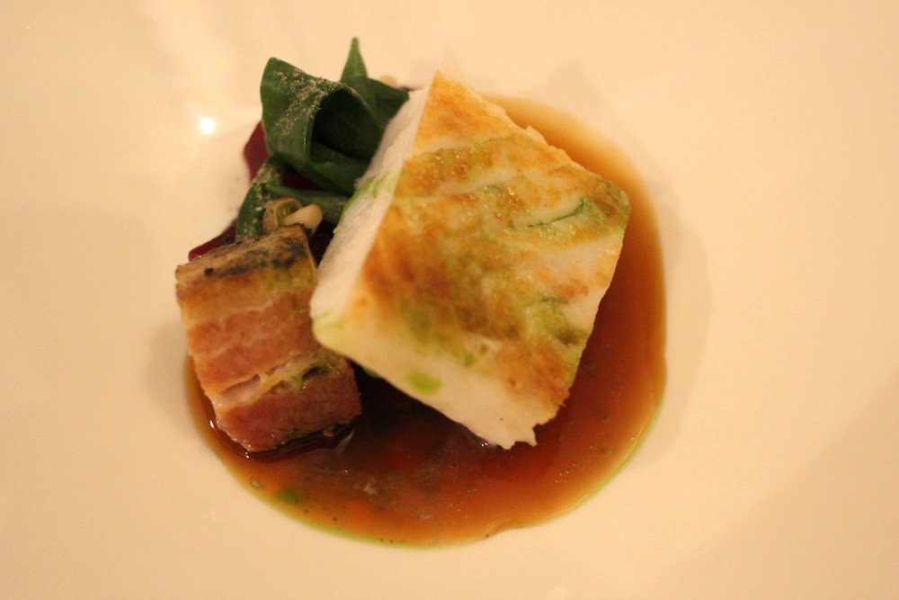 Hake with bacon