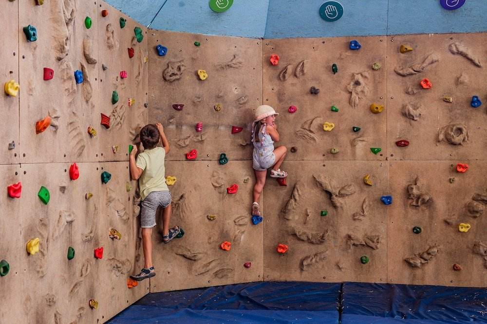 Climbing wall Tapnell Park Farm Isle of Wight things to do Isle of Wight