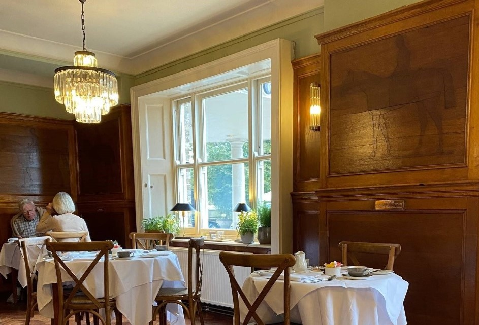 Grosvenor Hotel Stockbridge dining room