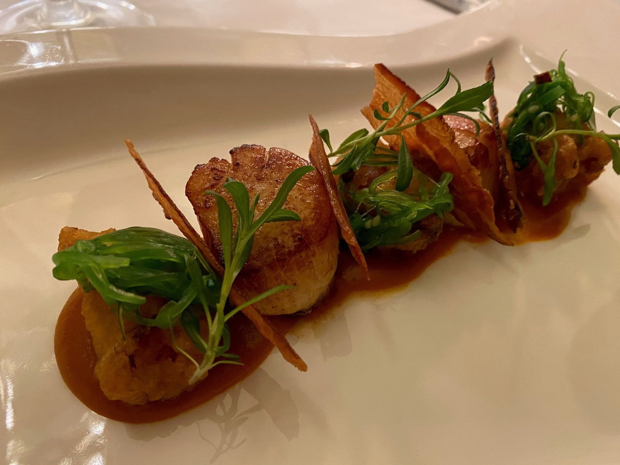 The Grosvenor Hotel Stockbridge Scallops