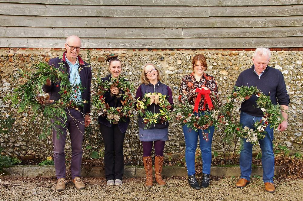 Field Farm Project Wreath making Hampshire