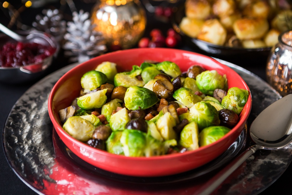 Brussels sprouts chestnuts Christmas recipe ideas