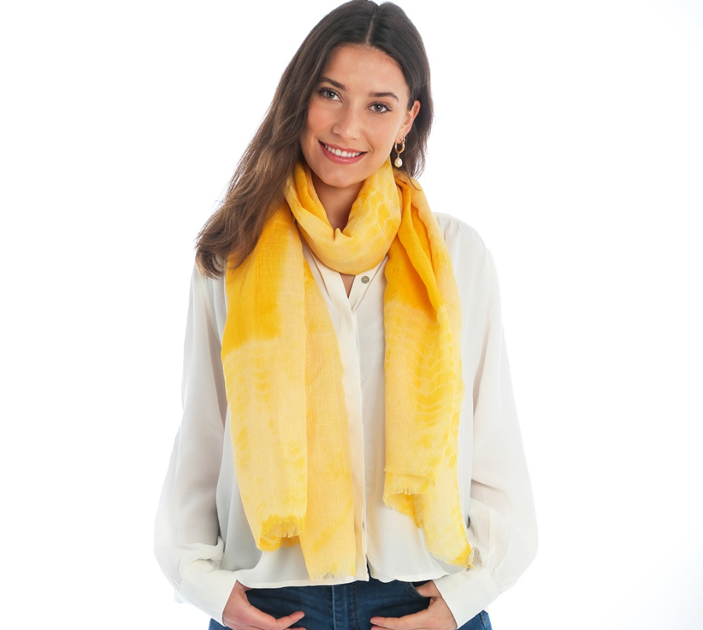 yellow scarf Cleverly Wrapped