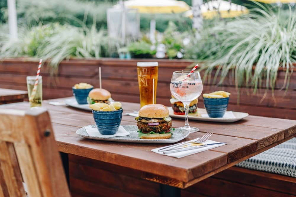 The Wellington Arms Stratford Turgis Hampshire outdoor dining terrace garden