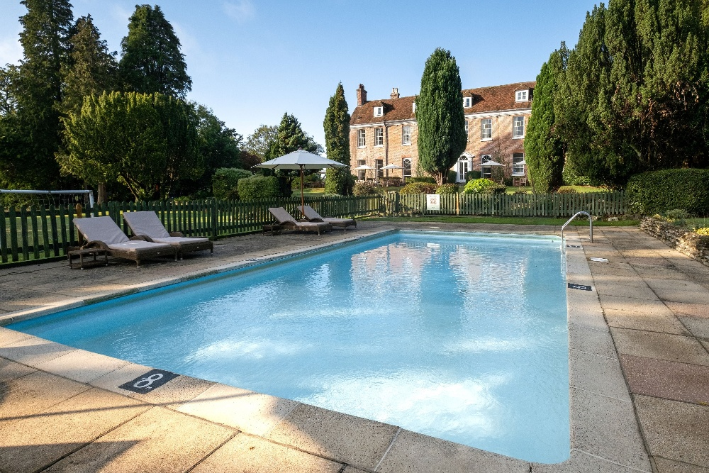 Outdoor pool at New Park Manor Hotel