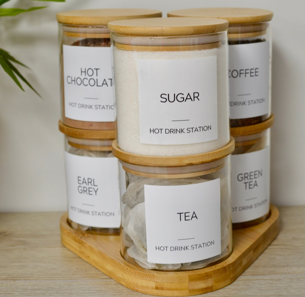 Hampshire home trends stacking jars storage accessories