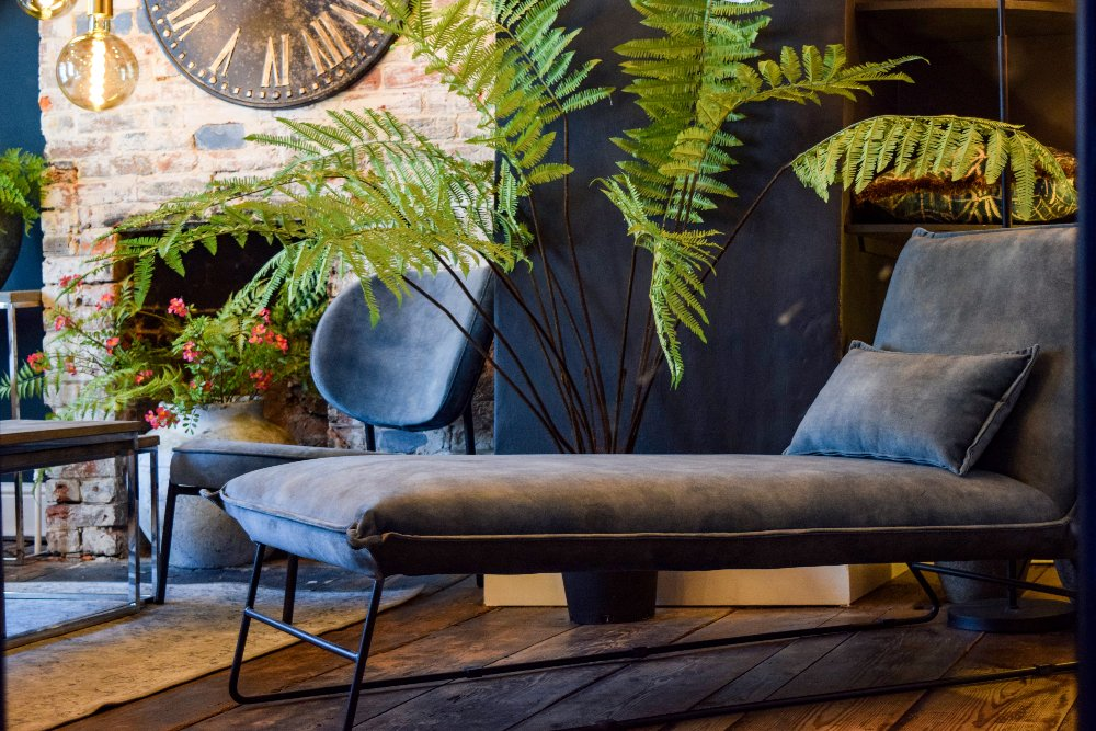PR Living coastal sea blue contemporary lounge chairs. Feel good home interiors trends